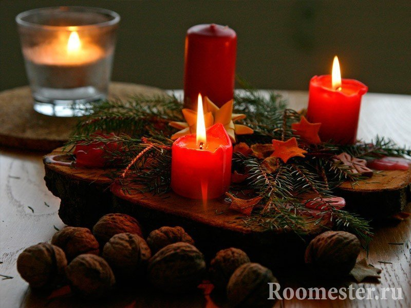 Свечи, орехи