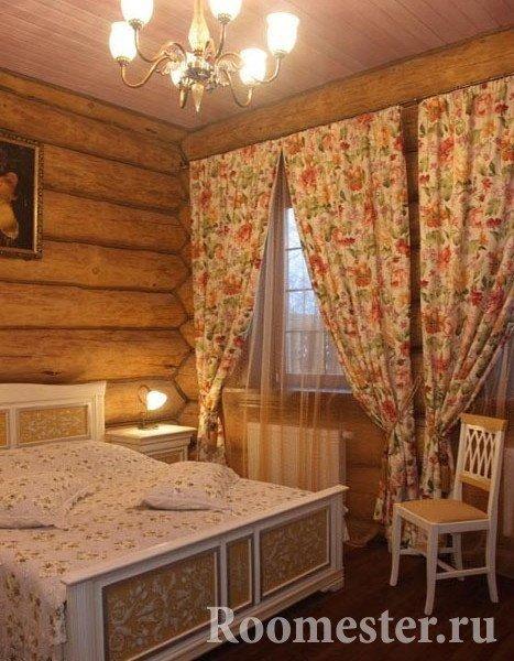 Спальня под русский стиль
