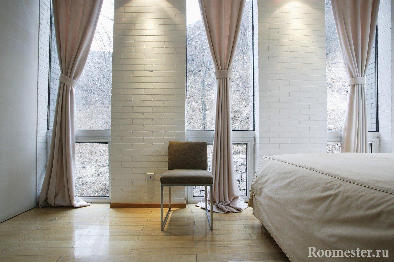 Собранные шторы