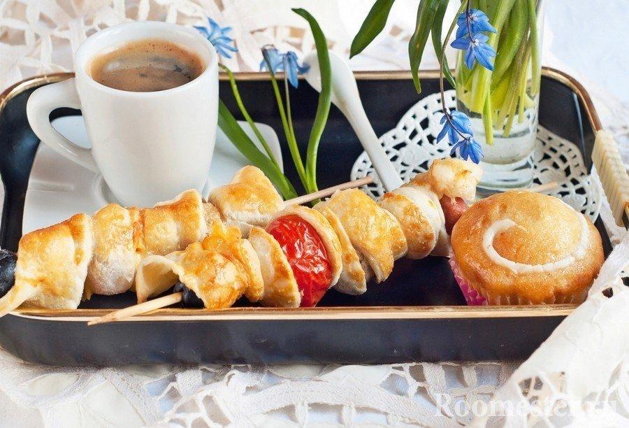 Украшение подачи завтрака