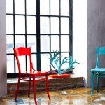 Декорирование старых стульев с помощью краски