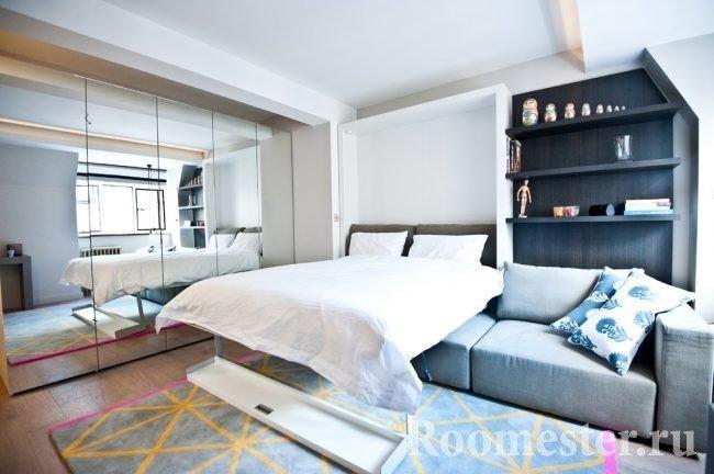 Кровать-диван раскладывающийся из шкафа