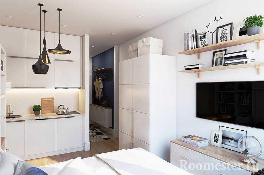 Дизайн квартиры-студии 20 квадратов