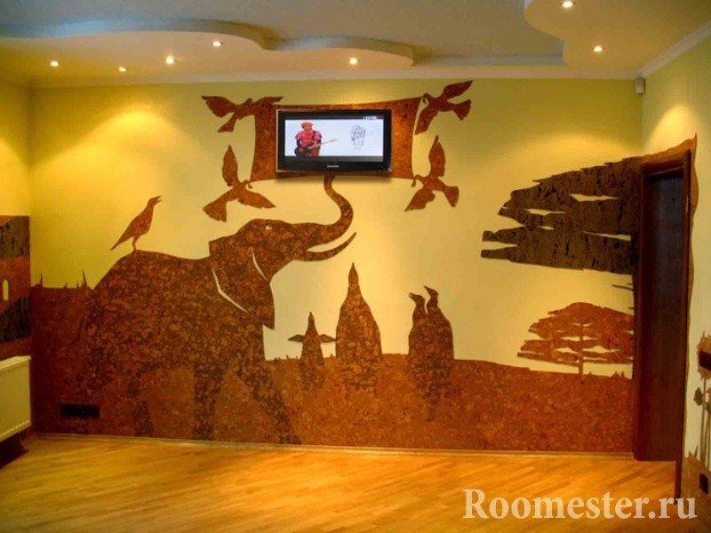 Африканский пейзаж на стене