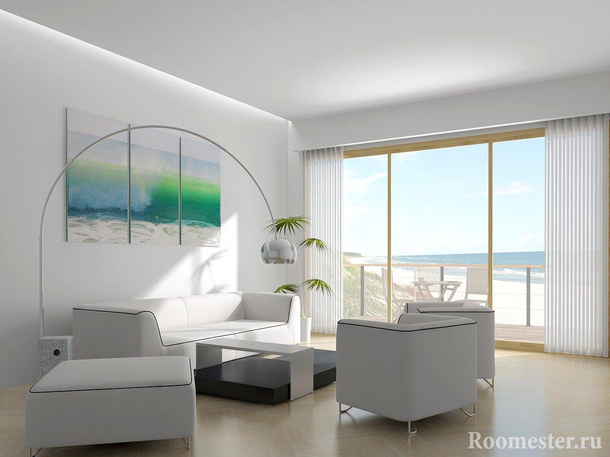 Вид на море из окна комнаты