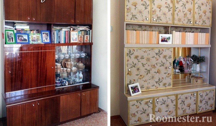 Обновленный шкаф при помощи пленки