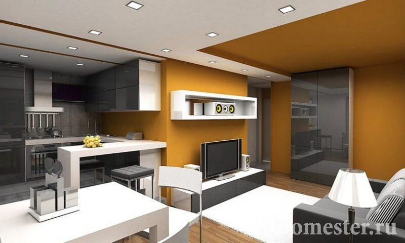 Оформление комнаты в современном стиле