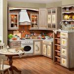 Мебель с узорами на кухне