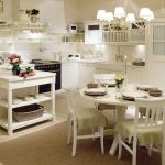 Комната с зонами кухни и столовой