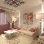 Модульная квартира над диваном