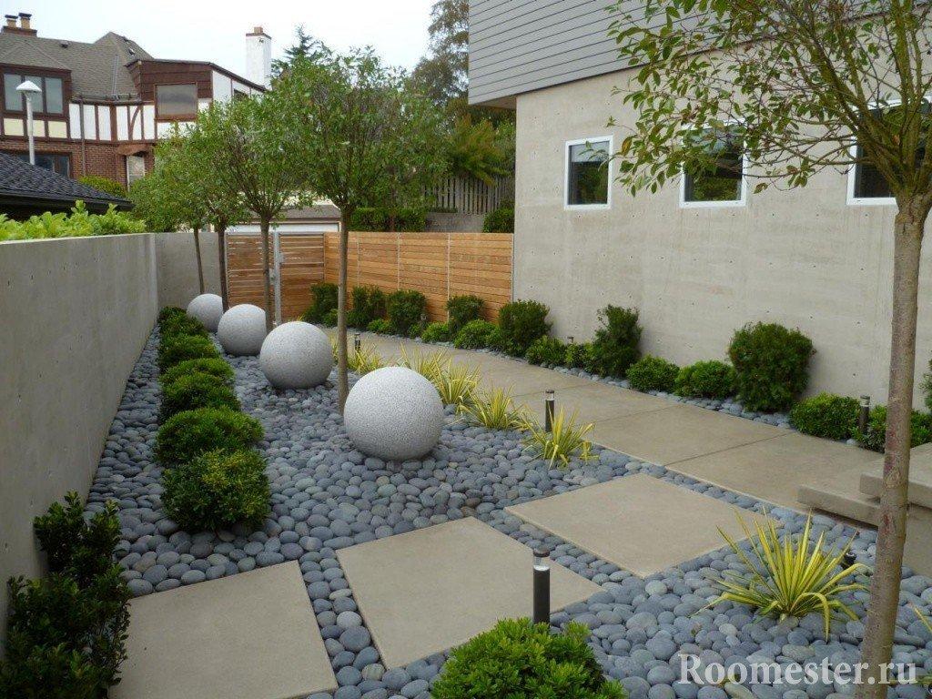 Интересный дизайн сада
