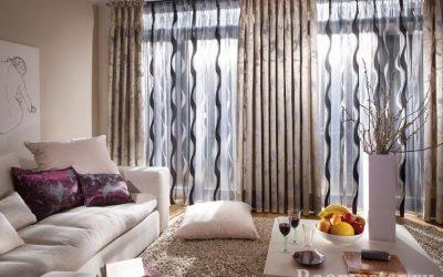 Дизайн современных штор для гостиной + 100 фото