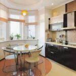 Пример дизайна кухни в доме серии п44т