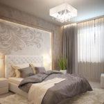 Интерьер спальни в мягких тонах