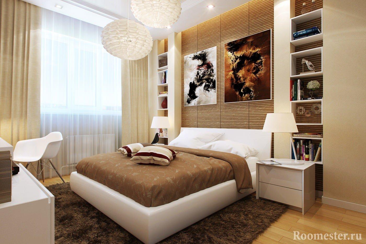 Оригинальные картины над кроватью