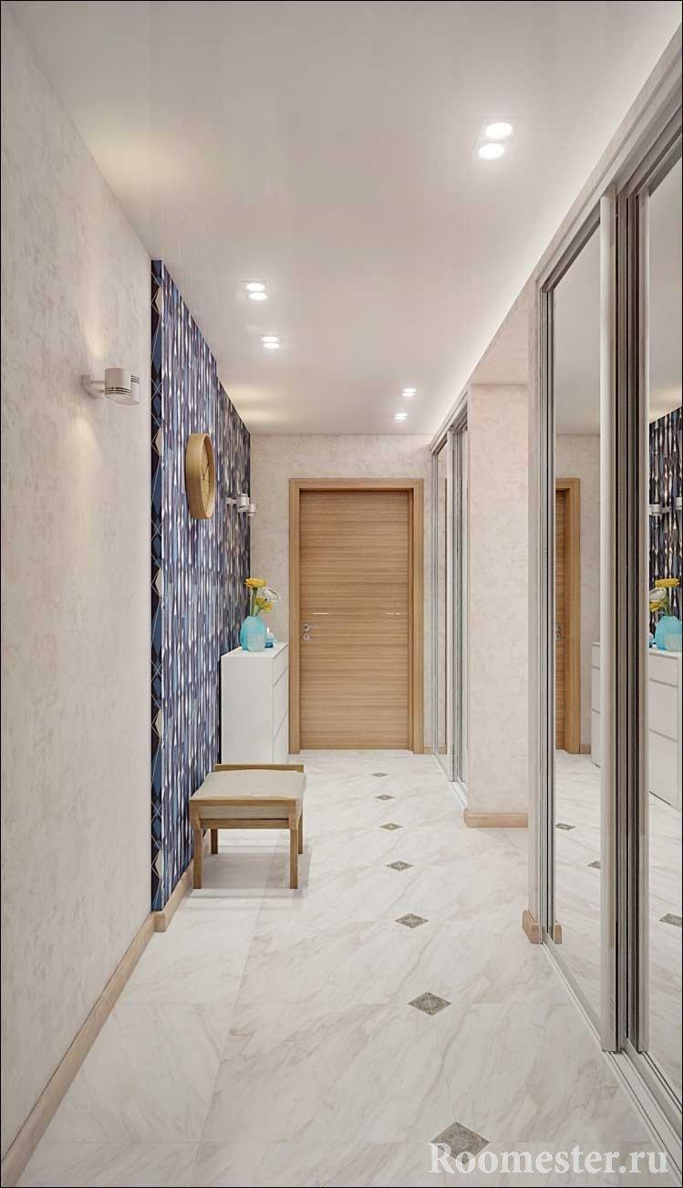 Какие полы сделать в узком коридоре фото