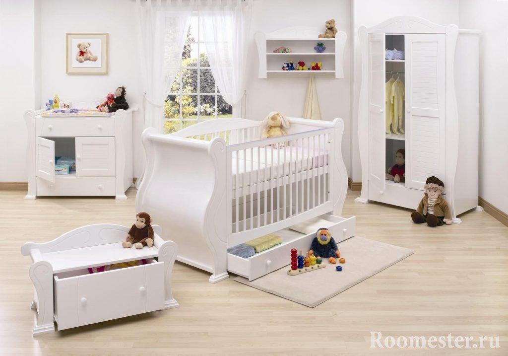 Дизайн детской комнаты для новорожденной девочки или мальчика выбор обоев мебели и украшений