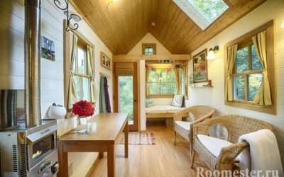 Интерьер маленького дома — зонирование и функциональная мебель