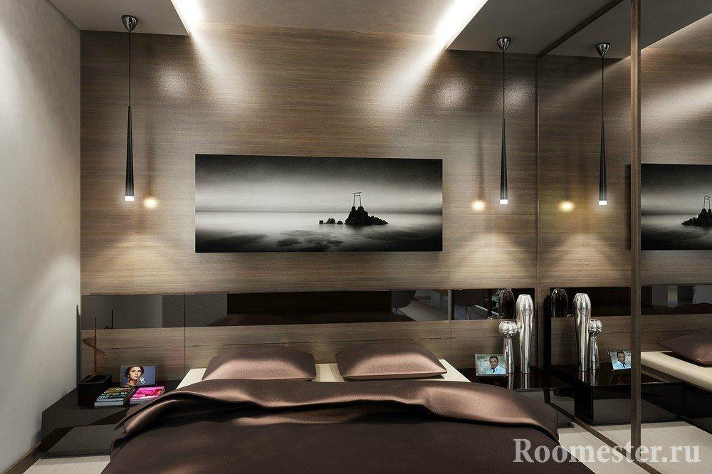 Потолок с коробами с подсветкой