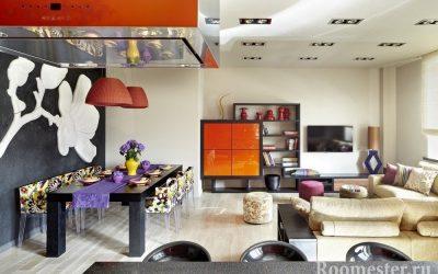 Стиль фьюжн в интерьере — яркий дизайн