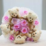 Мягкие мишки с цветочками