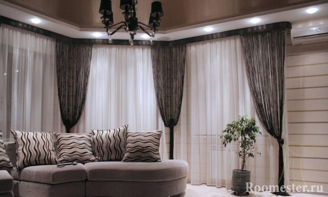 Строгий интерьер комнаты