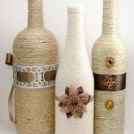 Бутылки с красивым декором