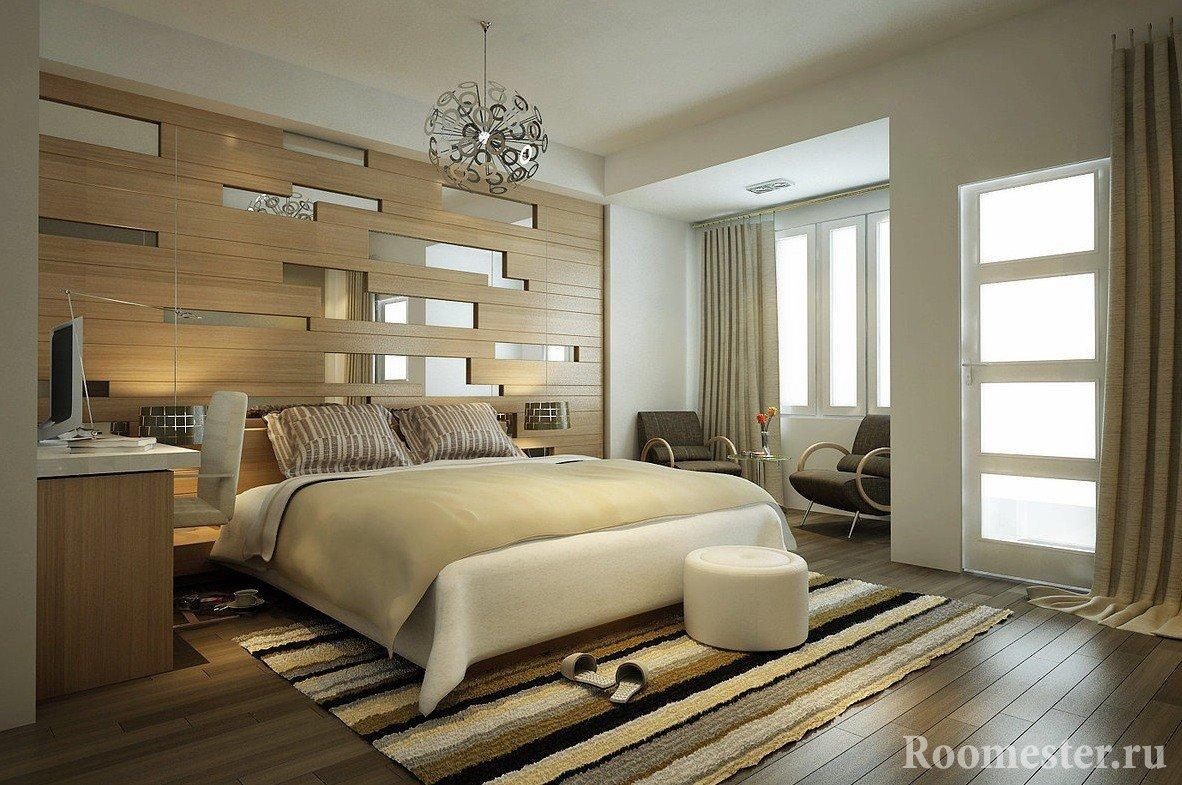 Светлый интерьер спальни