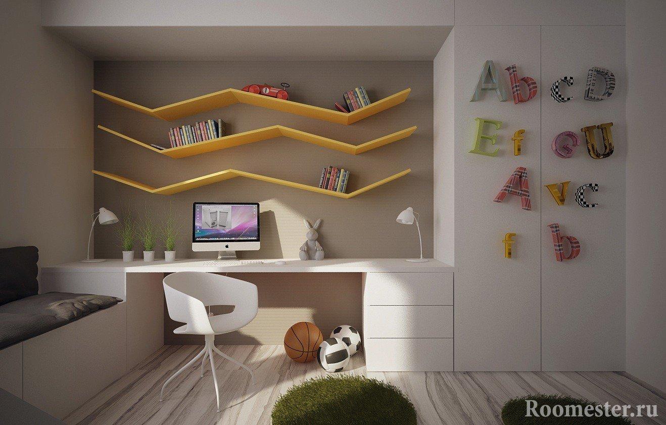Белая мебель в комнате