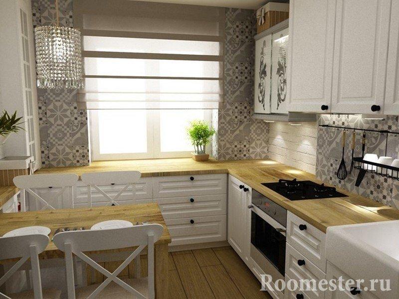 Интересная мебель на кухне