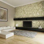 Белый диван в сером интерьере