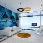 Пейзаж на стене гостиной