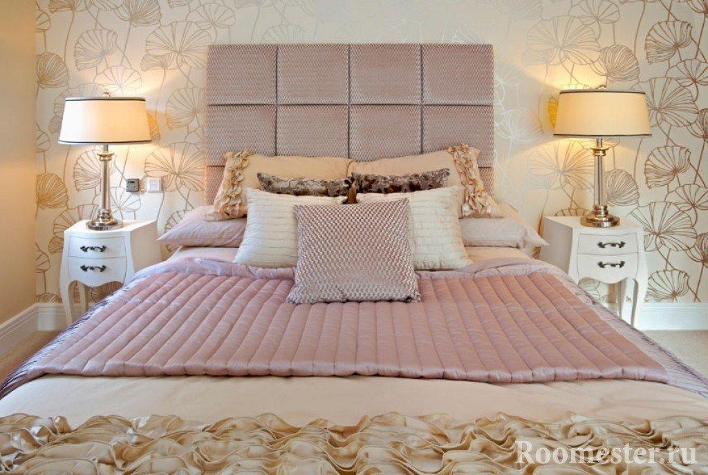 Мягкий интерьер спальни