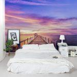 Шикарный вид на стене спальни