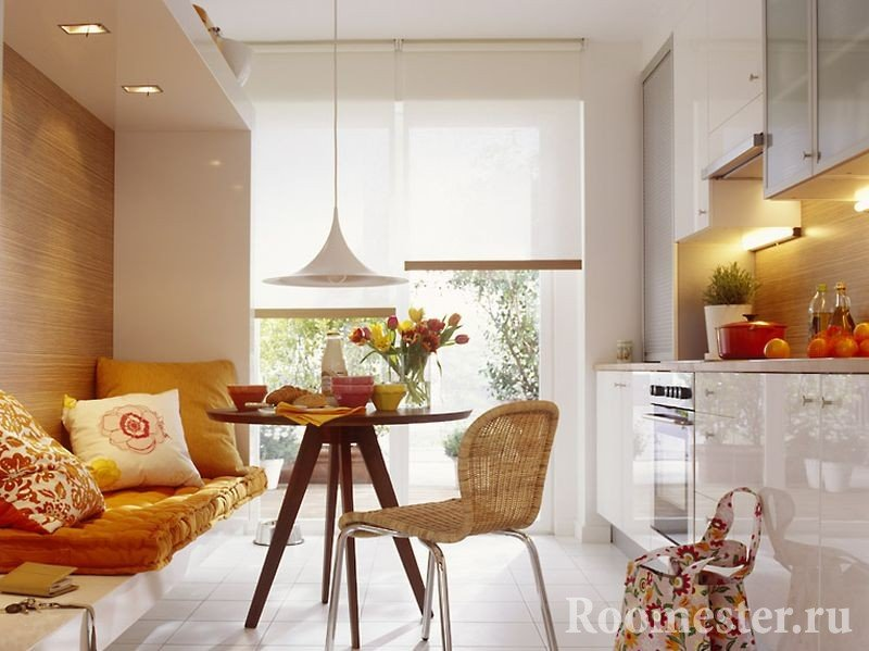 Бамбук на стенах кухни
