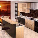 Пейзаж на стене кухни