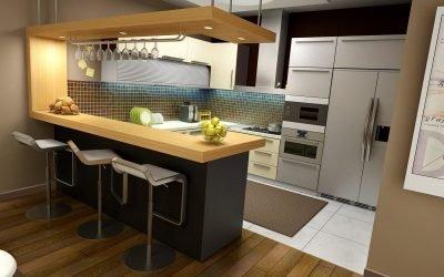 Дизайн кухни с барной стойкой — 80 фото идей
