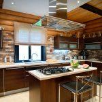 Плита посередине кухни