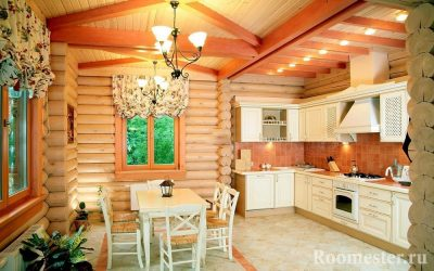 Дизайн кухни в деревянном доме — 60 примеров интерьера на фото
