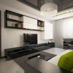Строгий интерьер гостиной