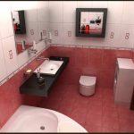 Двухцветный дизайн ванной