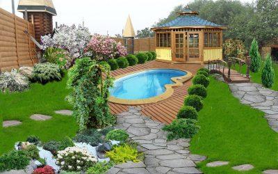Дизайн участка загородного дома на 10 сотках — примеры зонирования