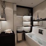 Пейзаж на стене ванной
