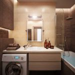 Стиральная машина под раковиной в ванной