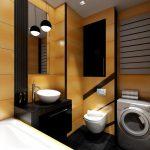 Строгий дизайн в ванной