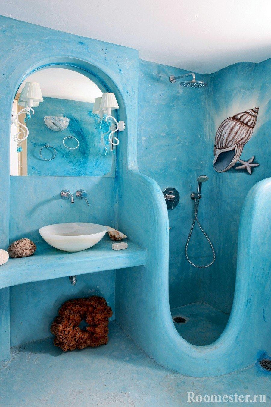 Blue shower design