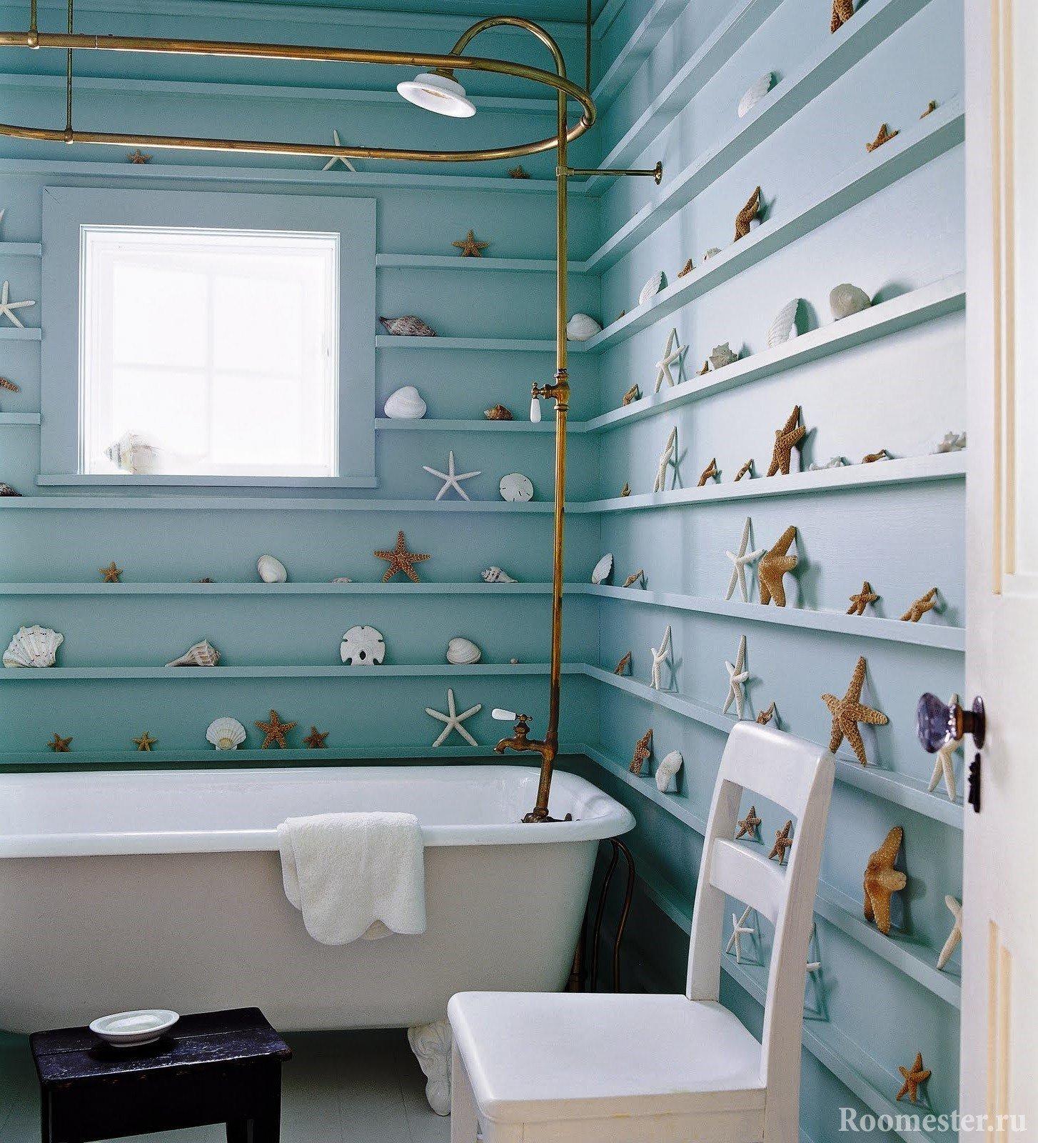 Seashells on the walls
