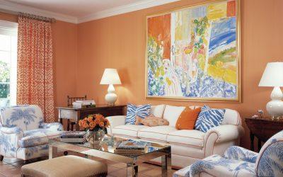 Персиковый цвет в интерьере +70 фото примеров сочетаний