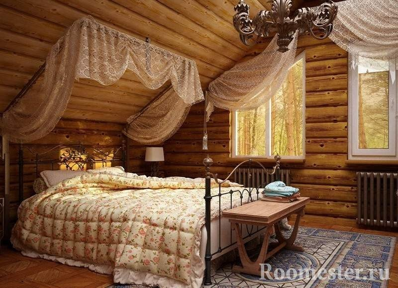 Ковер на полу спальни