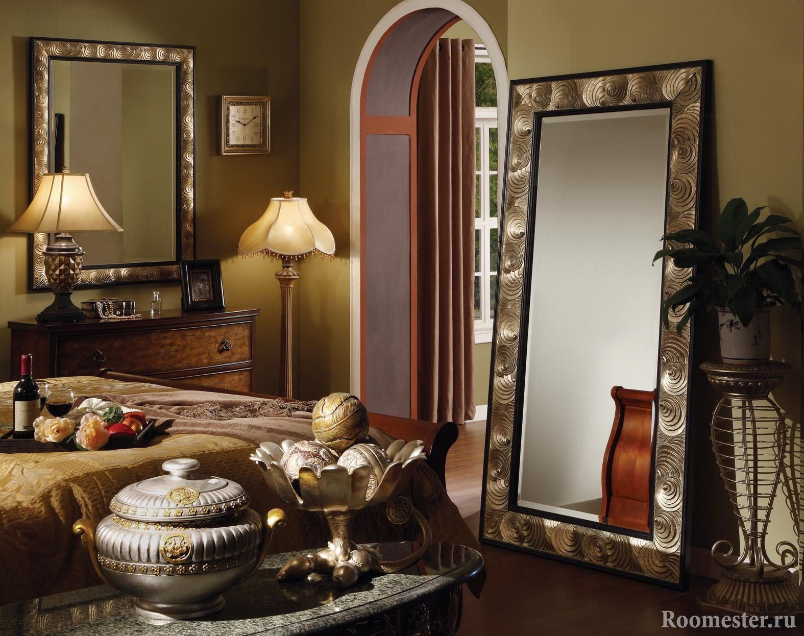 Шикарный интерьер с зеркалами